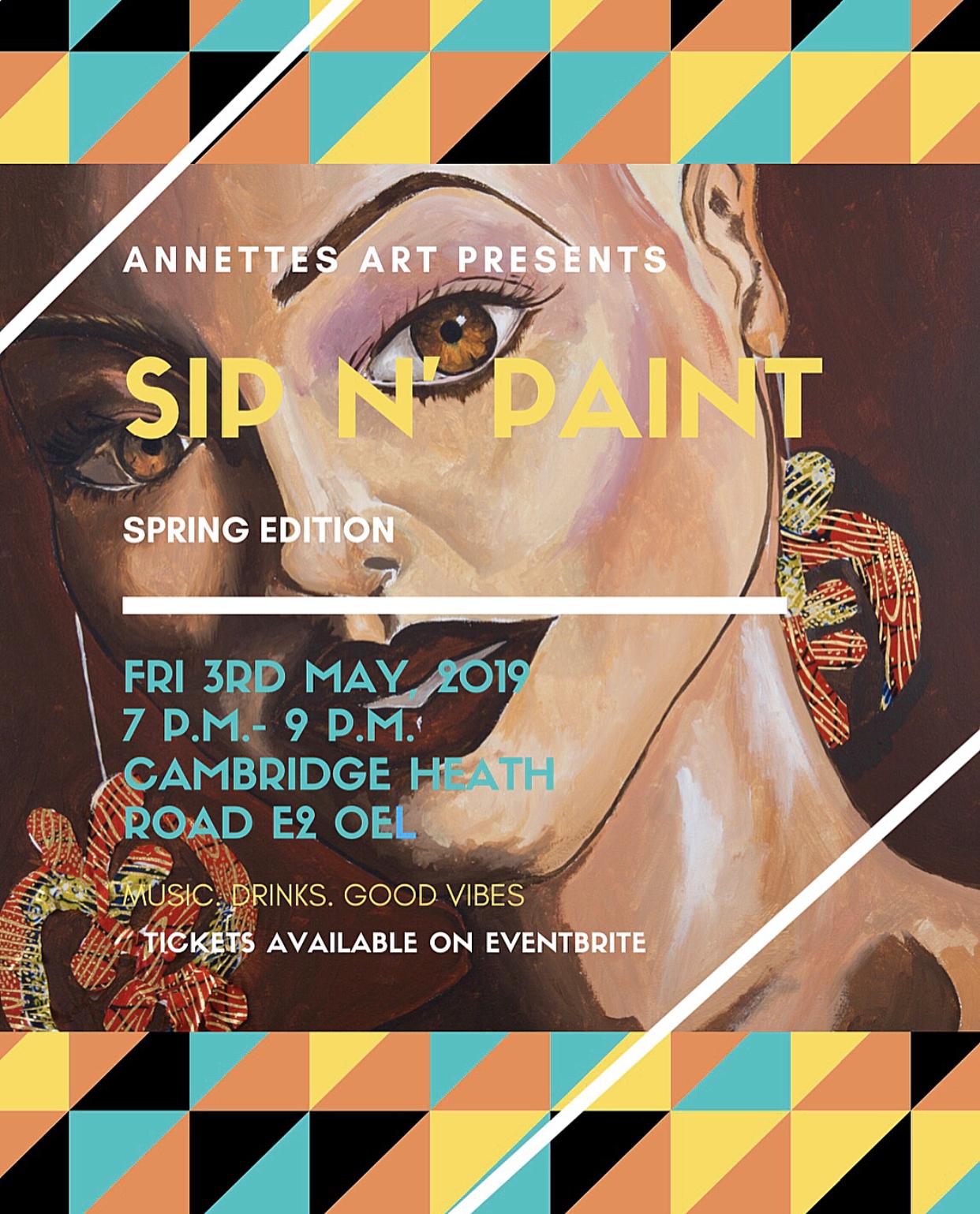 Annettes Art: Bank Hols Sip N' Paint