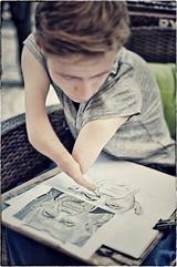 Picture of Mariusz Kedzierski drawing