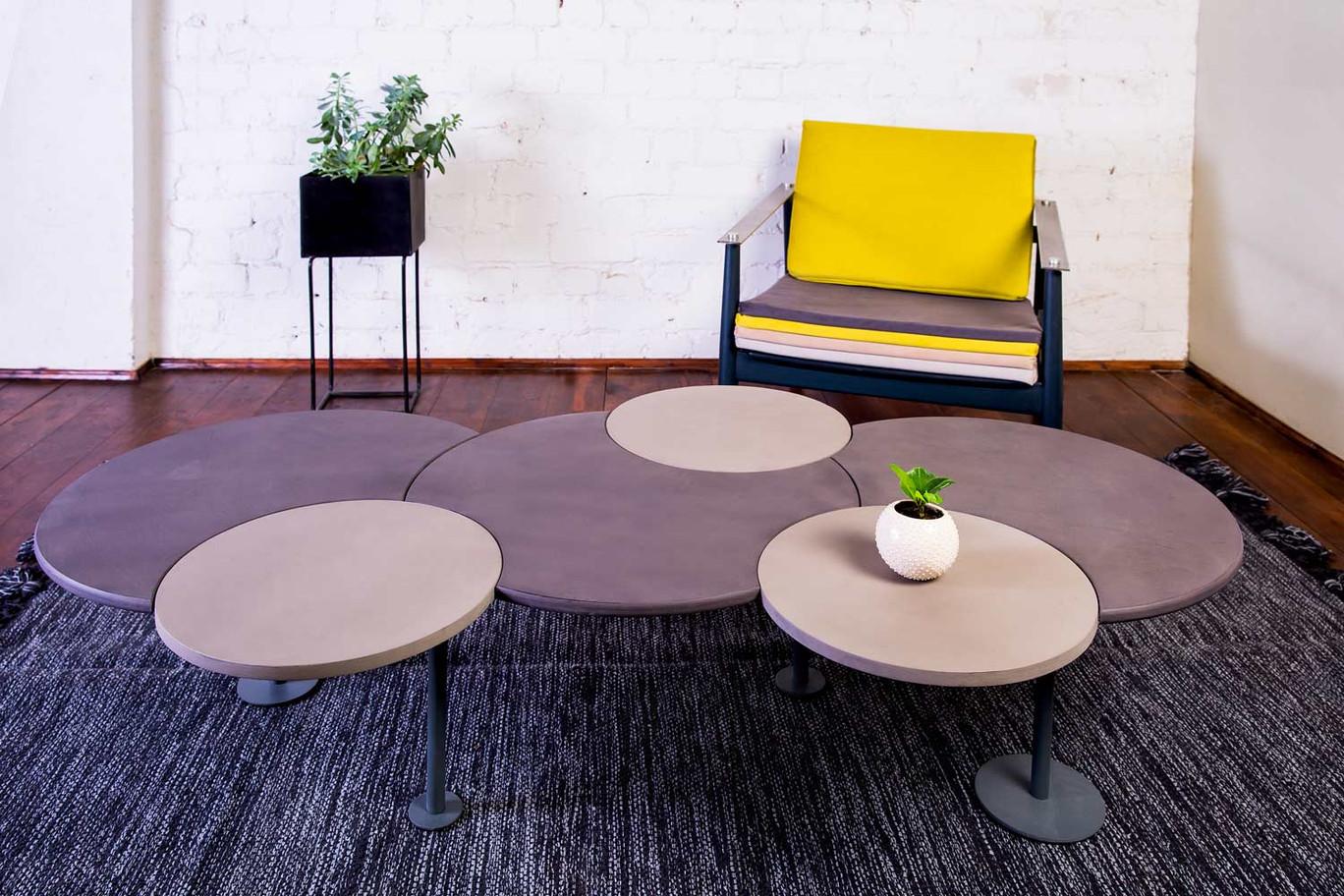 שולחן סלון עיגולים