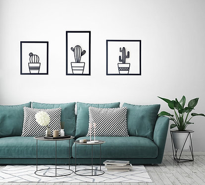 Cactus Wall Art, Set of 3 XL