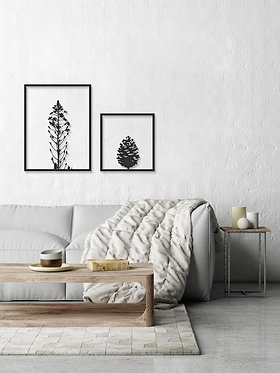 quarry and pine cone metal wall art | special edition | home style