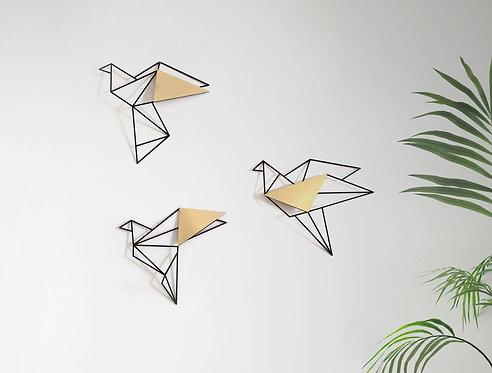 Metal birds laser cut wall decor | wall art