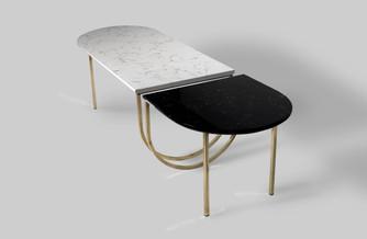 שולחן מחולק שייש