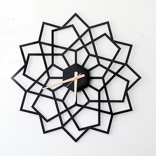 שעון גאומטרי שחור