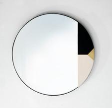 מראה שחור לבן פליז
