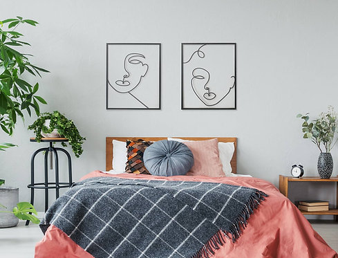 large wall art of 2 figures