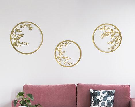 3 japanese circles | Gold