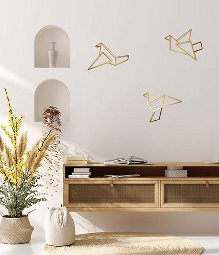 ORIGAMI BIRDS 3D V2 | GOLD