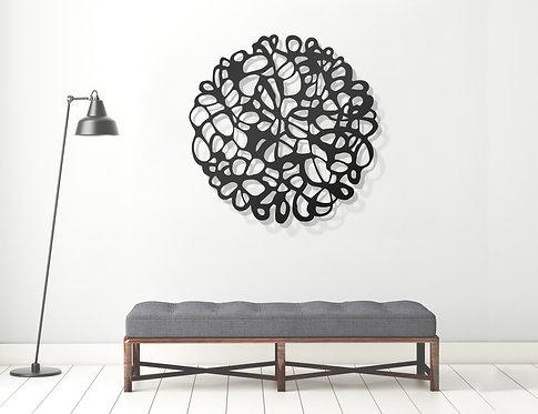 modern doodle metal art wall hanging circle | wall art