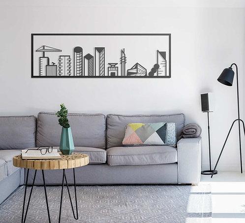תמונה של העיר תל אביב מעל ספה