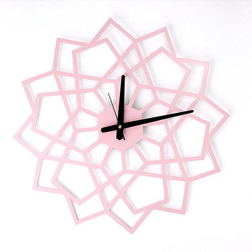 שעון גאומטרי מעוצב | ורוד