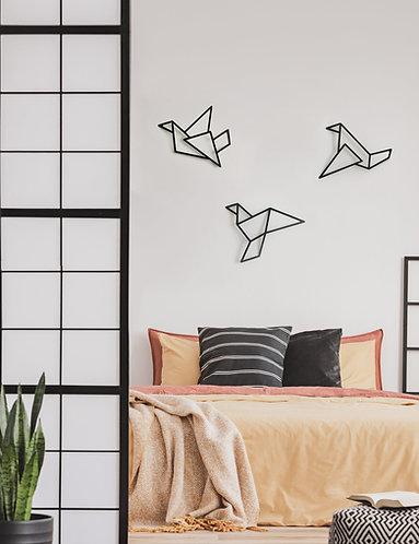 ציפורי אוריגמי ממתכת 3D