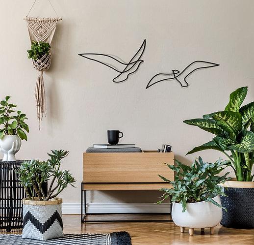 Abstract birds // זוג שחפים