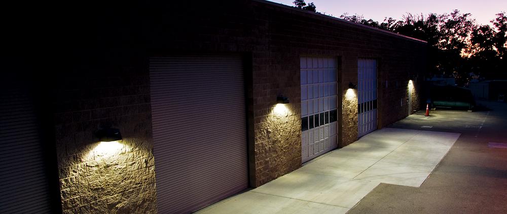 aplicación de luminaria de pared de exterior