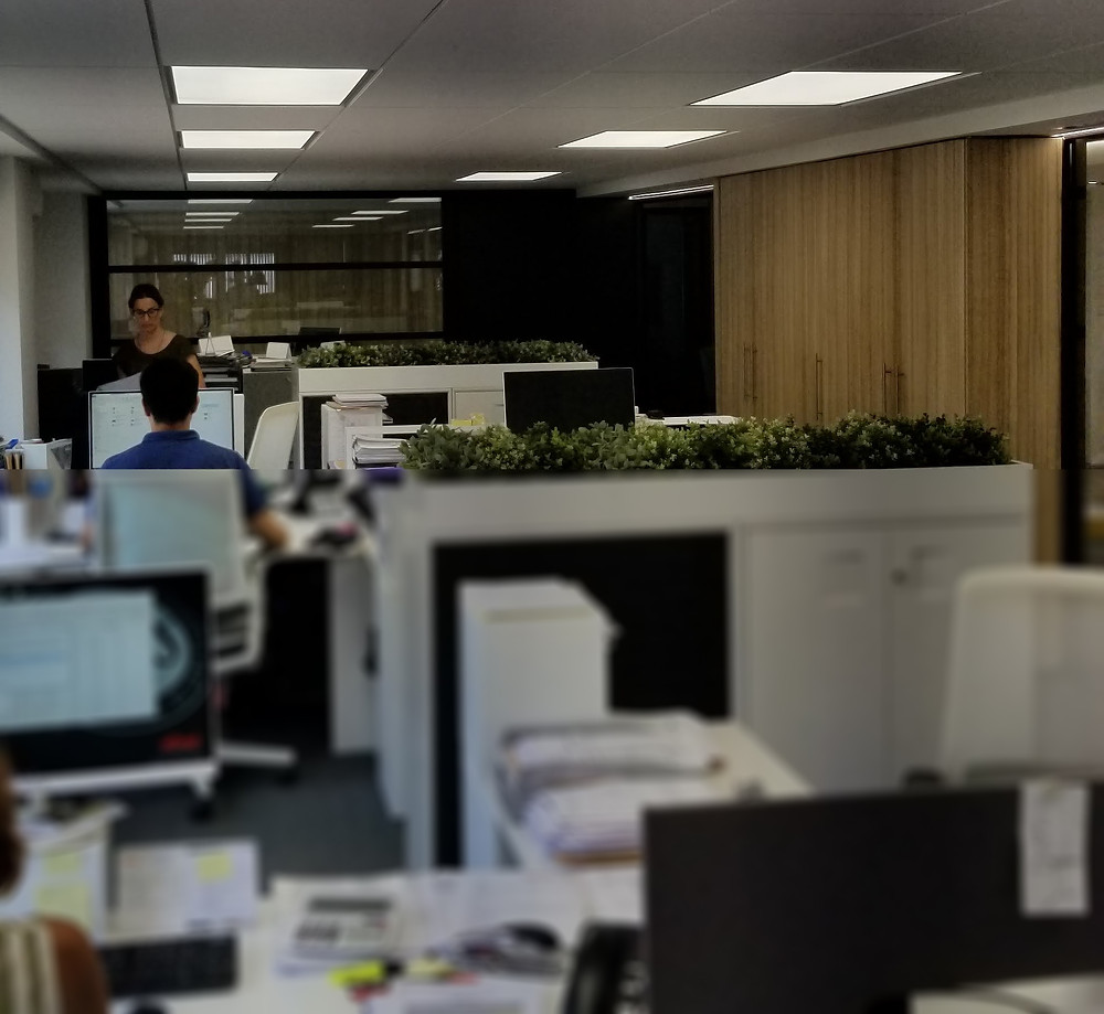 Iluminación Oficinas nelux