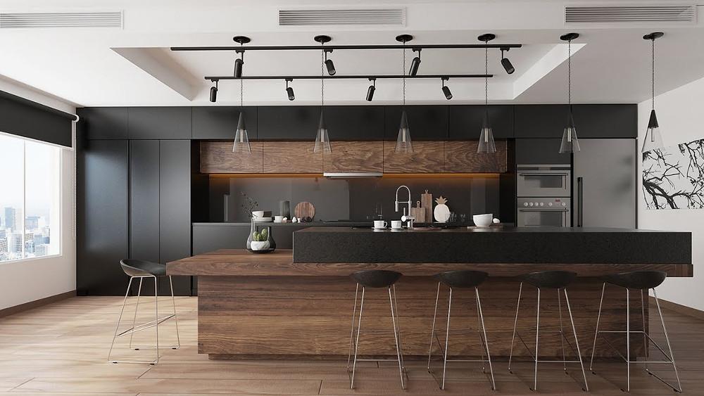 como iluminar una cocina - nelux