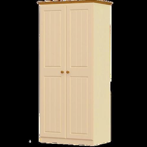 Erris 2 Door 1 Shelf Wardrobe