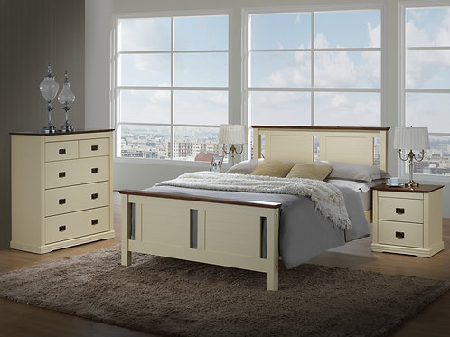 Beds4u Walnut & Cream