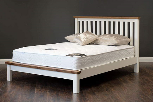 Vermont Cream & Oak Bedframe