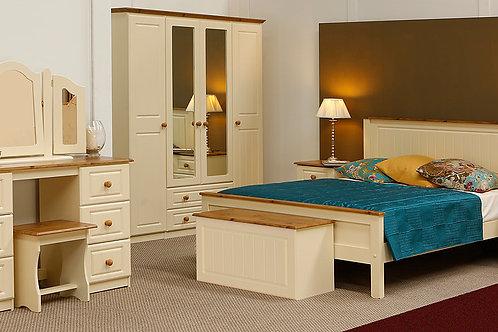 Beds4u Cream & Oak