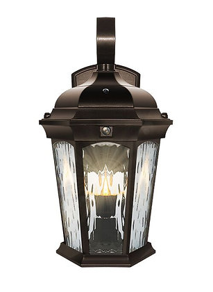 LED Oiled Bronze Flame Effect Wall Lantern 12.5W 1200lm