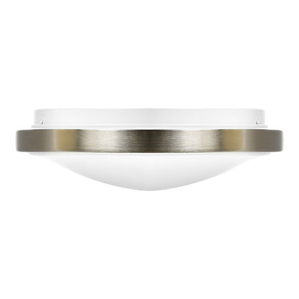 "LED 12"" Brushed Nickel Ceiling Light 19 Watt 1500lm"