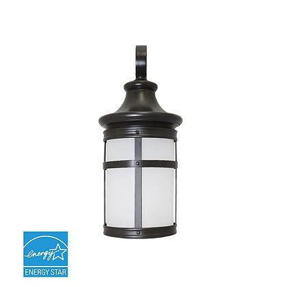 Integrated Outdoor LED Wall Lantern W/Oil Rubbed Bronze and Frosted Lens