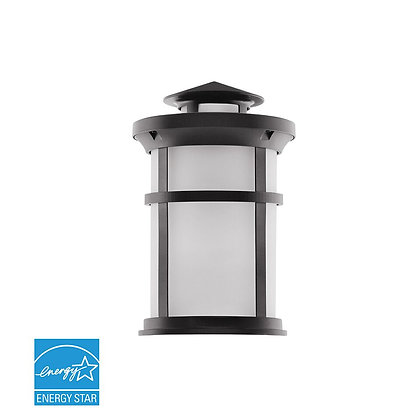 Integrated Outdoor Wall Lantern W/Oil Rubbed Bronze Alum Die Cast & Frosted Lens