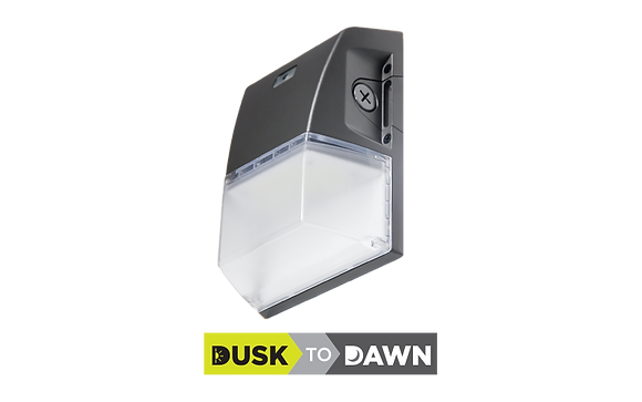 P Series Mini Wall Pack 18W with Dusk to Dawn