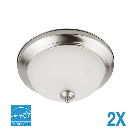 "LED 11"" Brushed Nickel Ceiling Light 11 Watt 900lm"