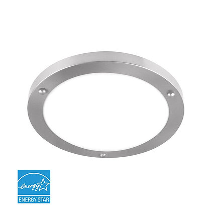 "LED 12"" Brushed Nickel Ceiling Light 16 Watt 1260lm"