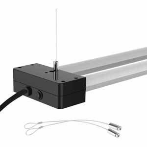 4' LED Utility Light Black