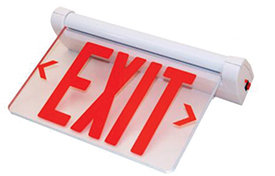 LED Edge Lit Exit Sign - Pack of 4
