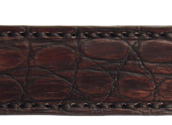 Anzuggürtel Krokodil Braun
