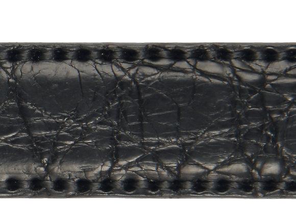 Anzuggürtel Krokodil Schwarz