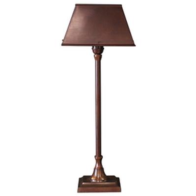 Brushed Finish Rectangular Lamp With Shade