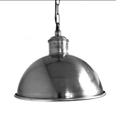Pewter Boiler Room Hanging Lamp -Large
