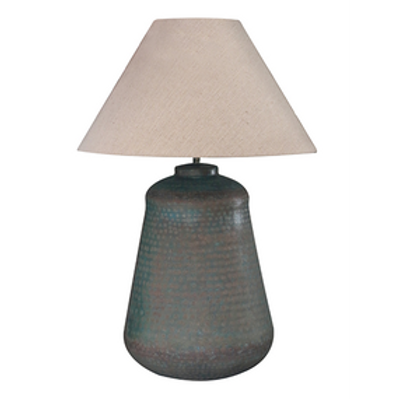 Brass Lamp In Verdigris Antiqued Finish - Includes Shade