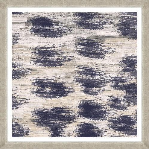 Frames Linen Print - Indigo Waves