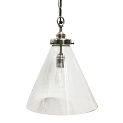 Pewter and Glass Pendant Light