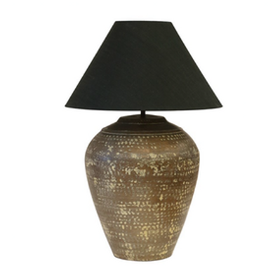 Urn Lamp In Verdigis Antique Finish - Includes Shade