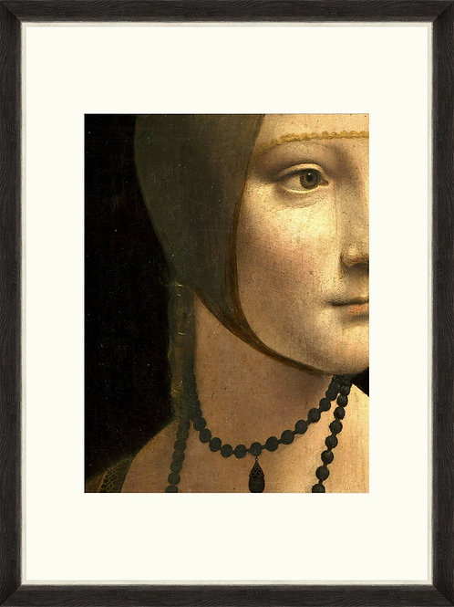 Renaissance Portrait - Lady With a Necklace - Framed