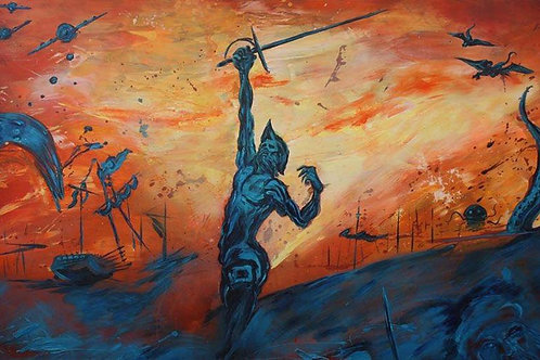 QUIJOTE Acrilico/Panel 170x120 cm. 2013 por Gastón Ortiz