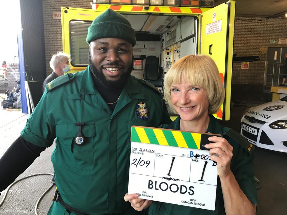 New Sky original comedy Bloods begins filming in London Starring Samson Kayo and Jane Horrocks