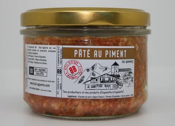Pâté de porc au piment d'Espelette -180g