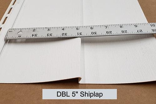 "Vinyl Siding DBL 5"" Shiplap"