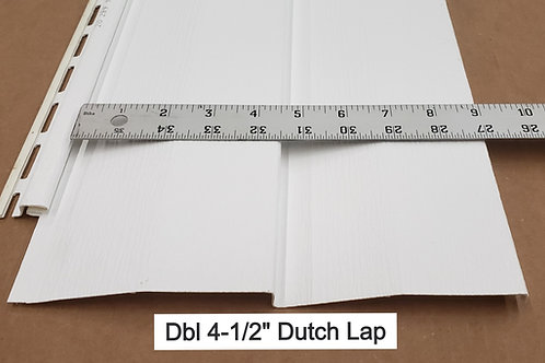 "Vinyl Siding DBL 4-1/2"" Dutch Lap"