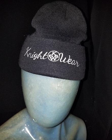 Black and white knightwear68 knit hat
