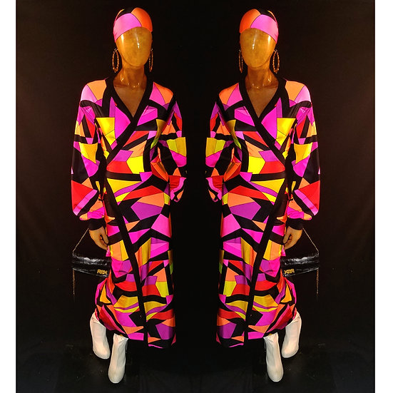 Kaleidoscope wrap dress