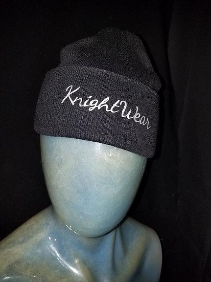 Black and white knightwear knit hat